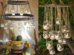 Lusteri od tegli i sveća