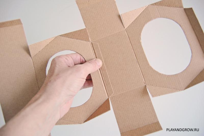 Сделать кормушку из картона своими руками